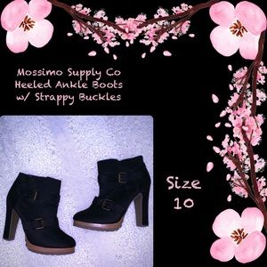 Mossimo Brand Heeled Boots w/ Strappy Buckles